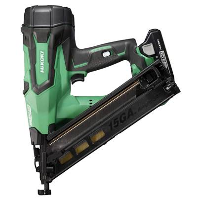 HiKOKI NT1865DMA 18V 15 Gauge Brushless Angled Finish Nailer With 2 x 3.0Ah Batteries