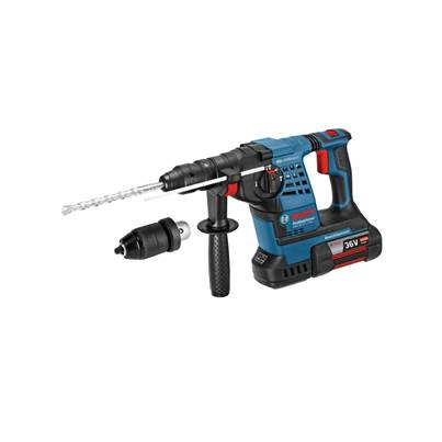 GBH36VFLI Plus 36V Cordless li-ion SDS Plus Rotary Hammer Drill (2 x 6Ah Batteries) with Quick Change Chuck
