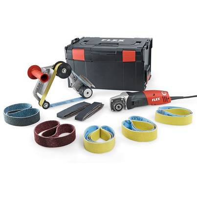 FLEX BRE 14-3 125 Set 1400 Watt 230 Volt  Pipe Belt Sander