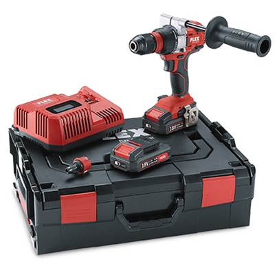 Flex DD2G 18.0 EC/2.5 Set Cordless Drill Driver, 2 x 2.5 amp 18v Batteries Charger and hard case