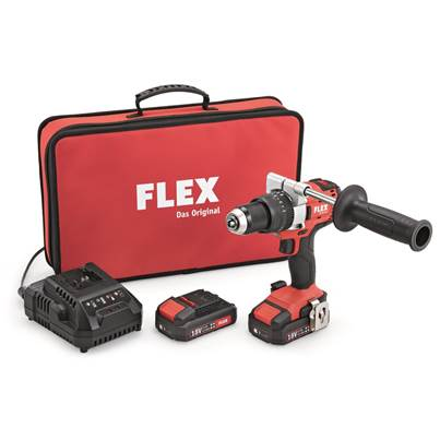 PD 2G 18V 2 Speed Cordless Impact Drill With 2 x 2.5Ah Batteries And Charger
