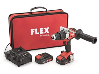 FLEX PD 2G 18V 2 Speed Cordless Impact Drill With 2 x 2.5Ah Batteries And Charger