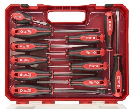 Milwaukee Hand Tools 4932472003 Tri-Lobe Screwdriver Set 12PC