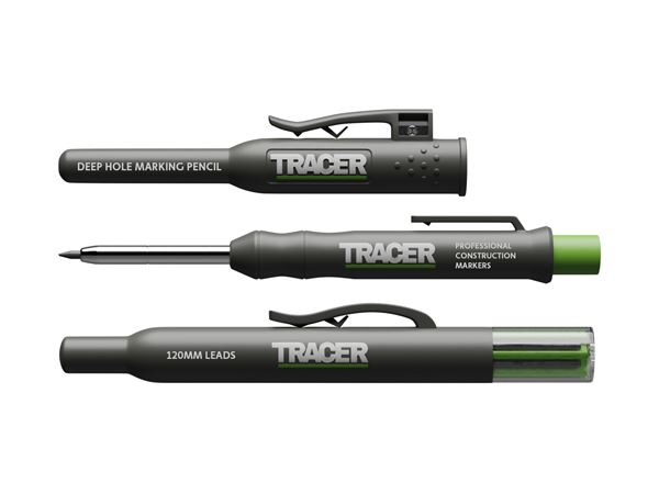 Tracer AMK1 Deep Hole Marking Pencil & 6 Lead Pack with Holster