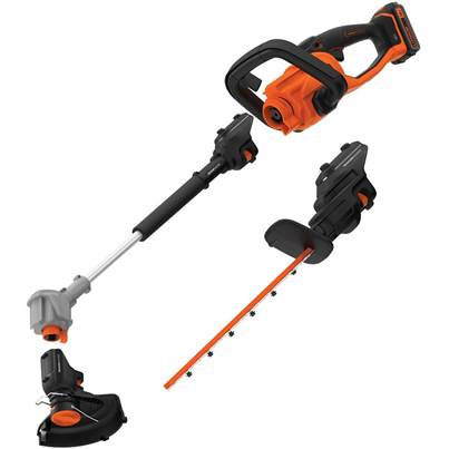 Black & Decker 3-in-1 18V SEASONMASTER Hedge Trimmer and String Trimmer