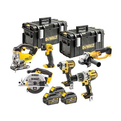 DEWALT DCK694T3 Brushless 6 Piece Kit 18V 3 x 6.0Ah