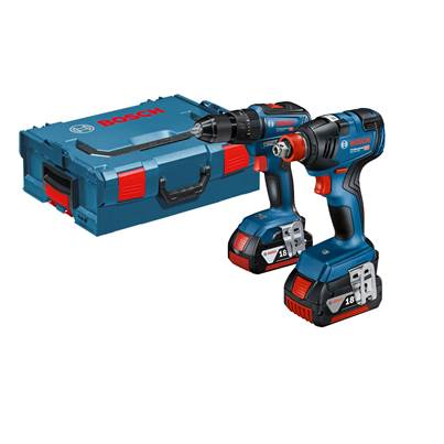 Bosch GSB 18V-55 + GDX 18V-200 Combi Drill & Impact Wrench Twin Pack With 2 x 4.0ah Batteries