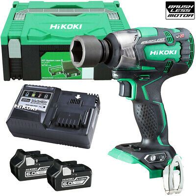 HiKOKI WR18DBDL2 18V Brushless Impact Wrench - 2 x 6.0Ah Batteries