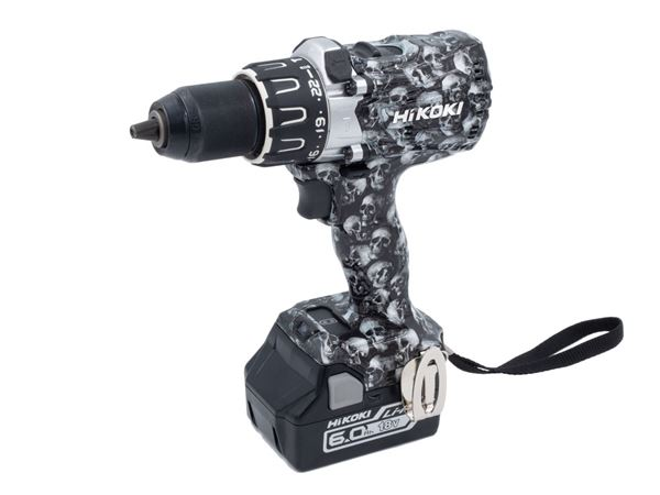 HiKOKI DV18DBXLJXZ Limited Edition SKULL 18V Brushless Combi Drill 2 x 6.0Ah Li-Ion