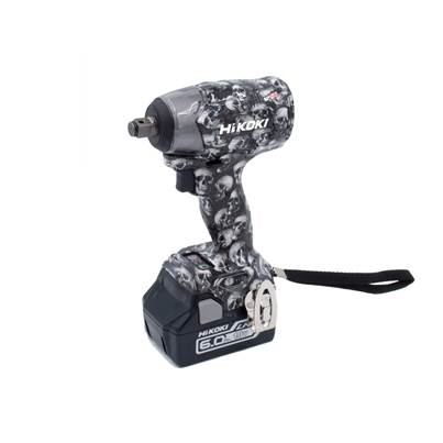 HiKOKI WR18DBDL2JXZ Limited Edition Skull Impact Wrench - 2 x 6.0Ah Batteries