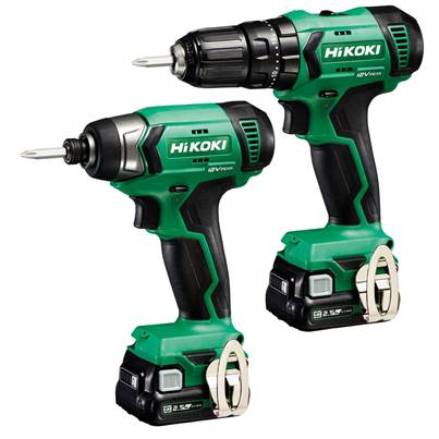 HiKOKI KC12DJJBZ 12V Combi Impact Twin Pack With 2 x 2.5Ah Batteries And Charger