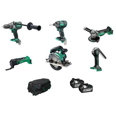 HiKOKI KTL618BL2Z 6 Piece Brushless Kit With 2 x 6.0ah Batteries And Charger