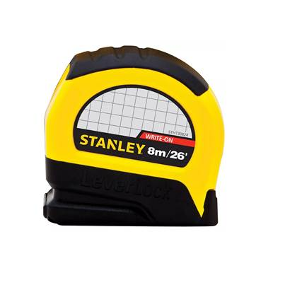Stanley Tools Stanley Leverlock Tape Measure 8m/26ft