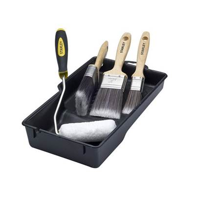 Stanley Tools Paint Brush And Mini Roller Set