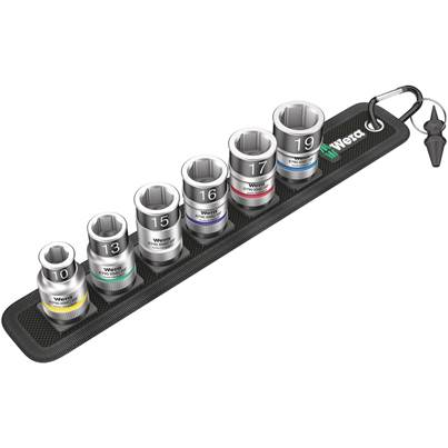 Wera Belt Socket Set With Holding Function 1/2 Inch Drive 7 Pce 003995