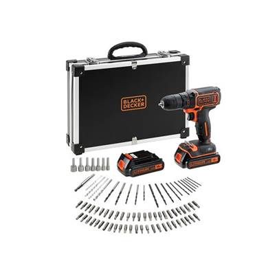 B/DCDC18BAFC-GB 18V Lithium-ion Drill Driver with 2 Battieries, fast charger and 80 accessories in storage case