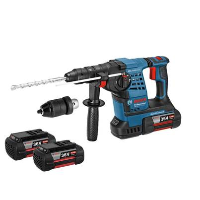 GBH36VFLIP3 36v SDS Plus Hammer Drill with Quick Change Chuck and 3 x 4.0Ah Li-Ion