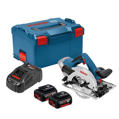 Bosch GKS 18V-57G 18v Circular Saw With 2 x  4.0Ah Batteries