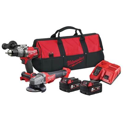 M18ONEPP2M-502B FUEL 18V Thunderbolt Kit - Combi Drill & Grinder (2 x 5.0Ah Batteries)